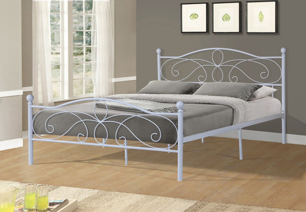 Taylor Metal Bed White - Furnlander
