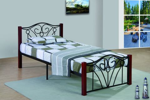 Emma Twin Metal Bed - Furnlander