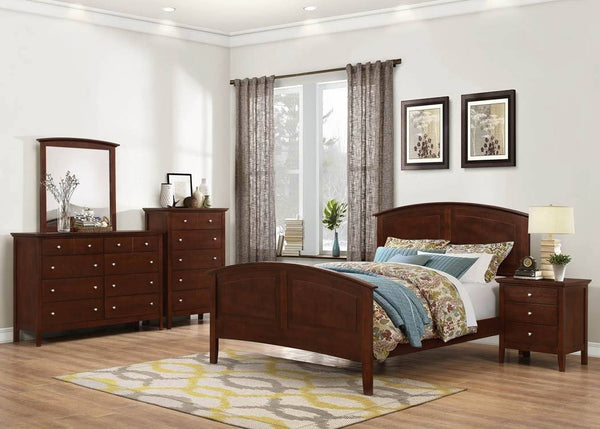 Aubree Bed Cherry - Furnlander