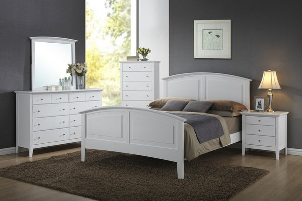 Aubree Bed White - Furnlander