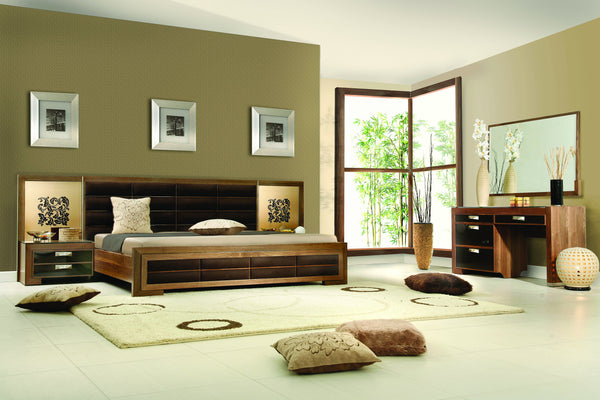 Platform Bed w/2 Night Stands