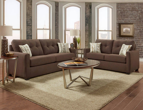 Mitchell Chocolate Sofa Group
