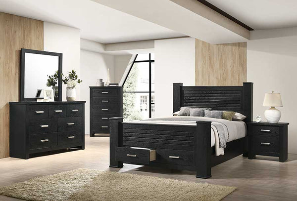 Black Bedroom with Drawers