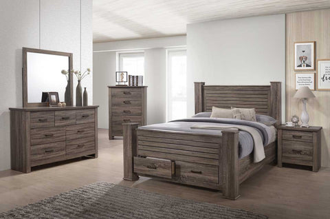 Rustic Bedroom with Drawers