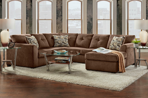 Kelly Chocolate Sectional Sofa Group