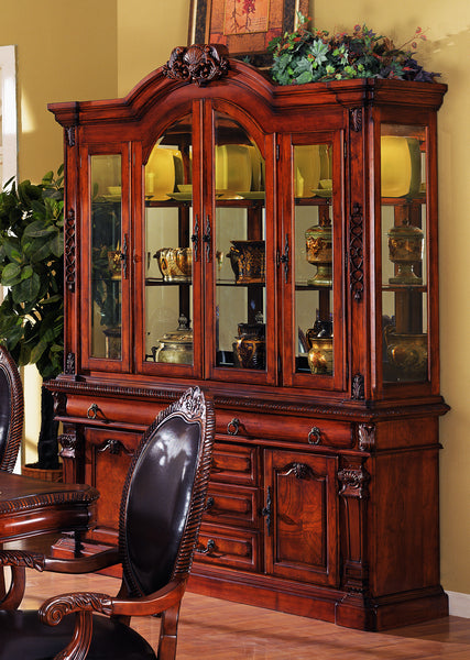 Hutch Buffet with Interior Lights