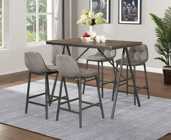 Counter Table w/Gray Fabric Seats