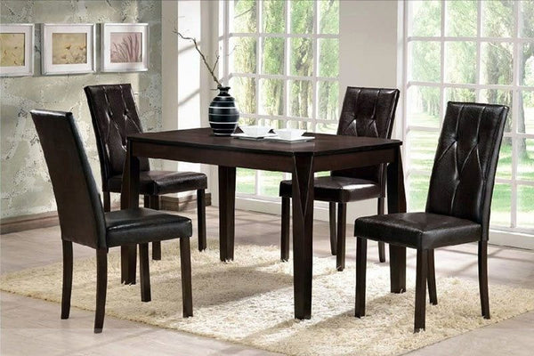 Elroy Dining Table Set  5 PCS. SET (1T + 4 CH) - Furnlander