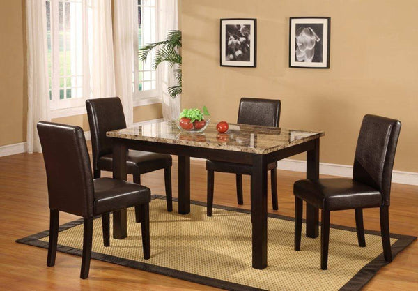 Marcy Dining Table Set  5 PCS. SET (1T + 4CH) - Furnlander