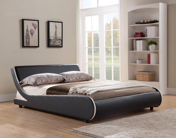 PU Curved Bed; Black