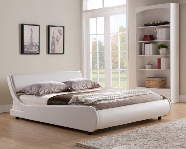 PU Curved Bed; White