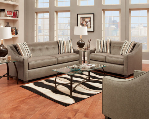 Stoked Pewter Sofa Group