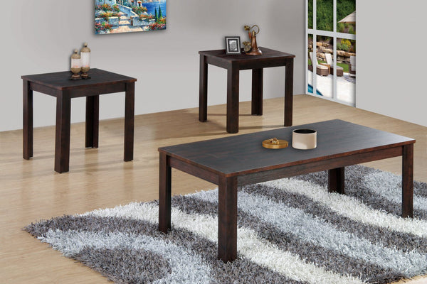 Espresso Coffee Table Set; 3 PCS. SET