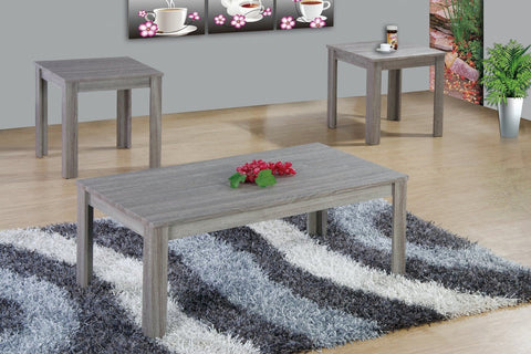 Dela Coffee Table Set 3 PCS. SET (1C + 2E) Gray - Furnlander