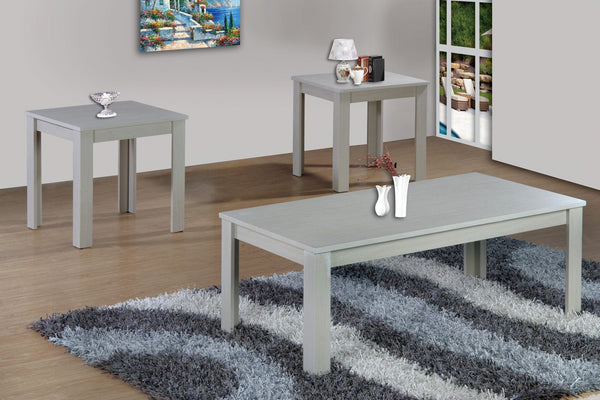 Dela Coffee Table Set 3 PCS. SET (1C + 2E) White - Furnlander