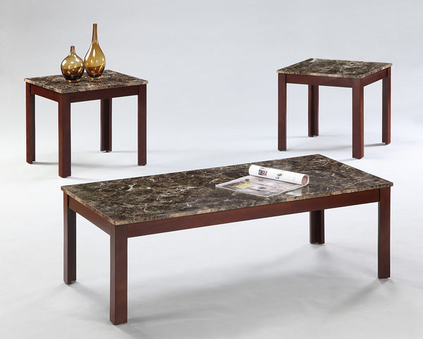 Chateau Coffee Table Set 3 PCS. SET (1C + 2E) - Furnlander