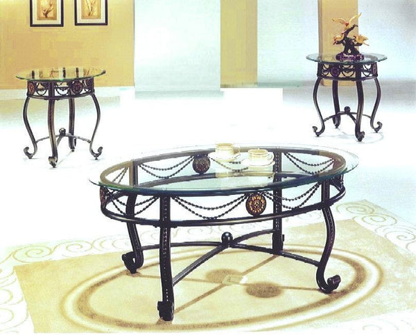 Sheila Coffee Table Set 3 PCS. SET (1C + 2E) - Furnlander