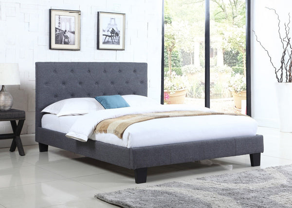 Avero Linen Bed - Furnlander
