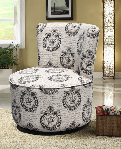 Crown Design Swivel Chair - Furnlander