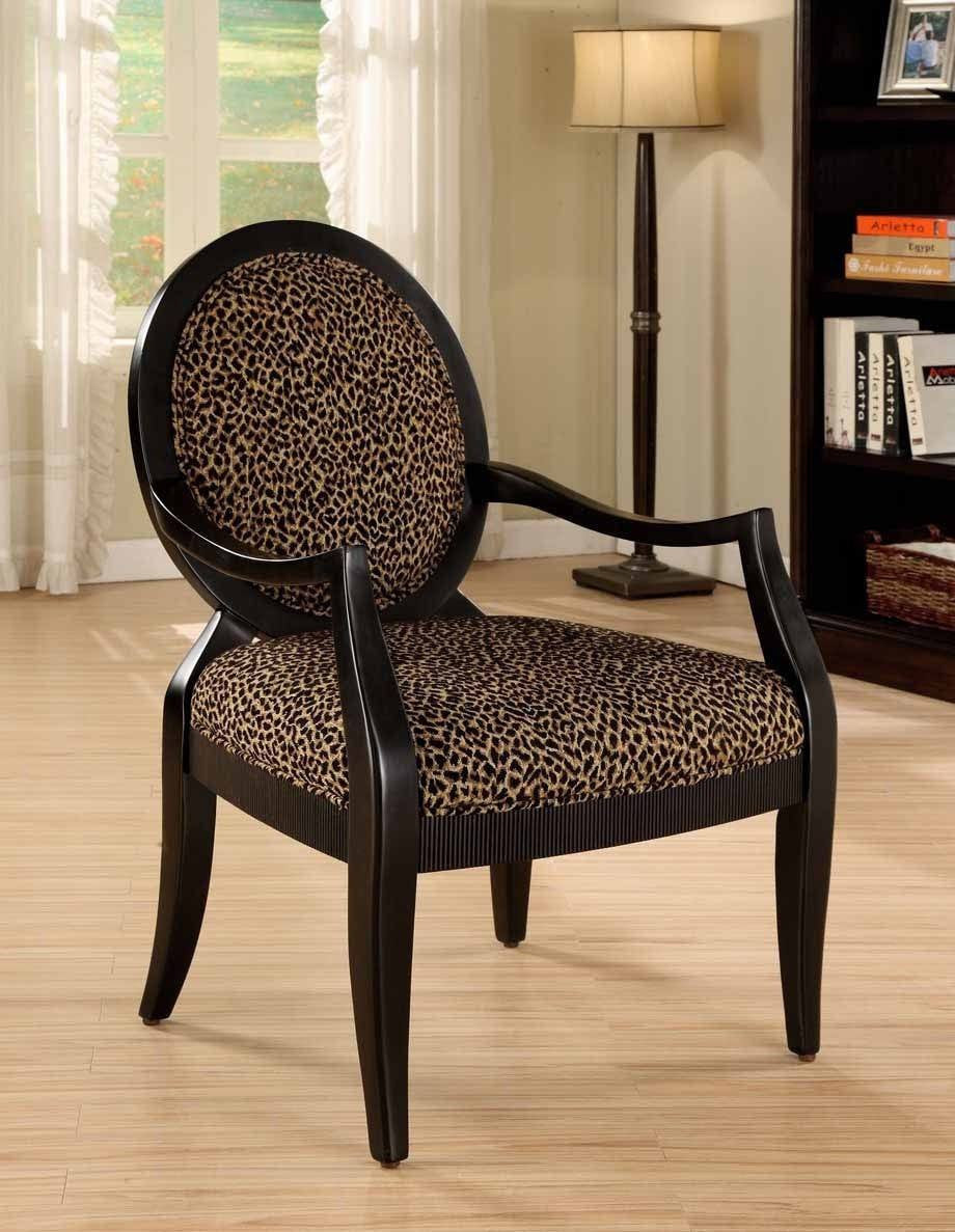 Leopard Print Accent Chair Pacific Imports Inc