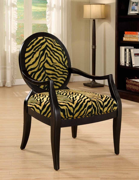 Tiger Print Accent Chair