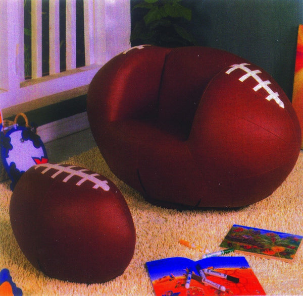 Football Swivel Chair w/ Ottoman - Furnlander