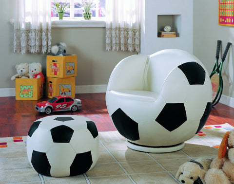 Soccer Swivel Chair w/ Ottoman - Furnlander