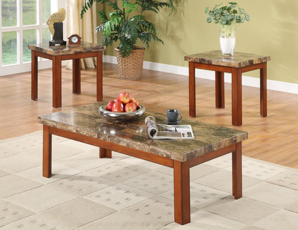 Larimar Brown Coffee Table Set 3 PCS. SET (1C + 2E) - Furnlander