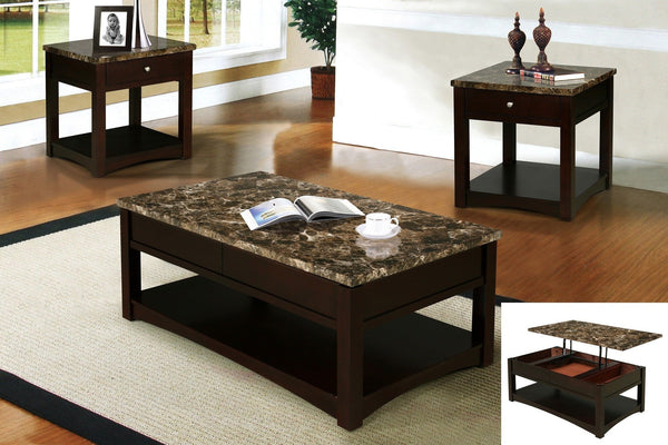 Fisker Coffee Table w/ Lifted Top - Furnlander