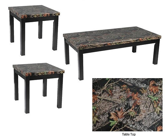 Mossy Oak Coffee Table Set; 3 PCS. SET