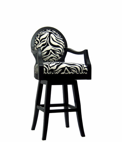 Zebra Print Swivel Bar Stool