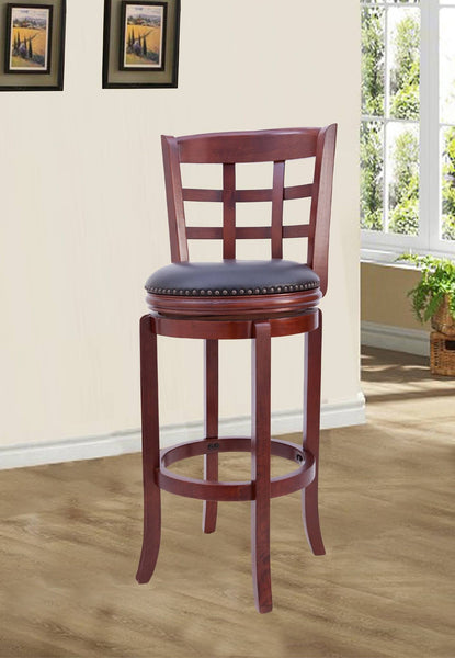 Metropolitan Wood Swivel Bar Stool - Furnlander