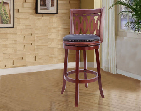 Westport Wood Swivel Bar Stool - Furnlander