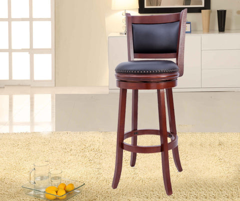 Camden Wood Swivel Bar Stool - Furnlander