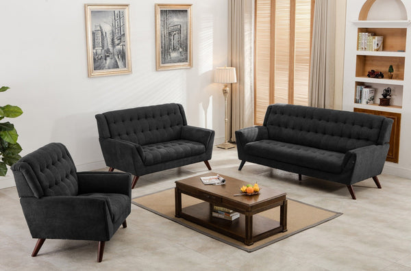 Sophie Fabric Sofa Dark Gray - Furnlander
