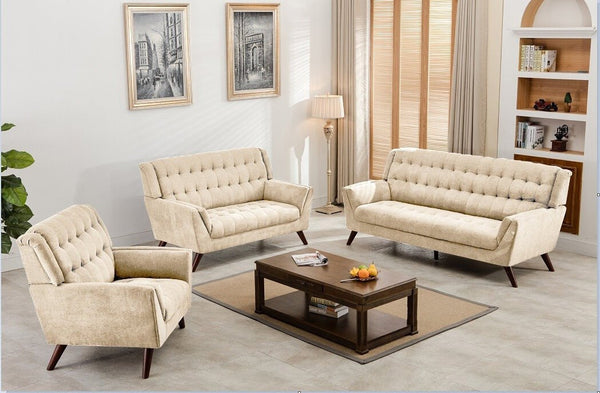 Sophie Fabric Sofa Neutral - Furnlander