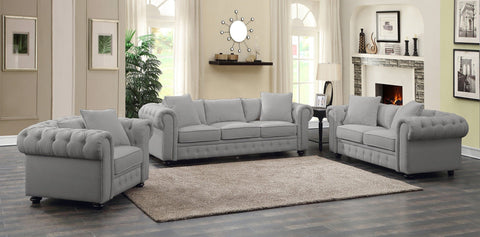 Regatta Linen Sofa Gray - Furnlander