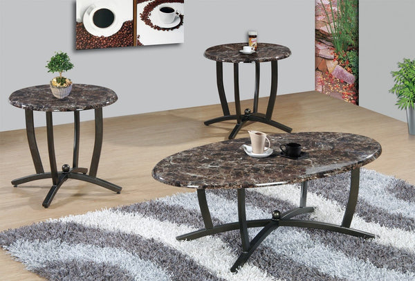 Layton Coffee Table Set Espresso 3 PCS. SET (1C + 2E) - Furnlander