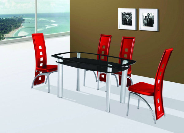 Gavin Dining Table Red - Furnlander