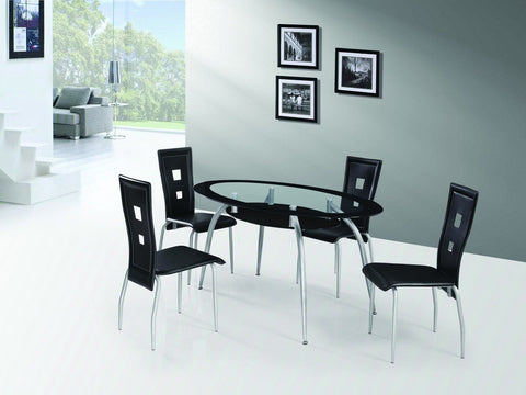 Rhodes Dining Table Black - Furnlander