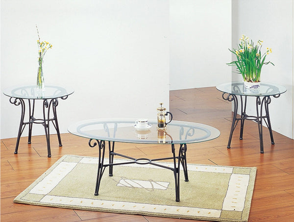 Darcy Coffee Table Set; 3 PCS. SET (1C + 2E) - Furnlander
