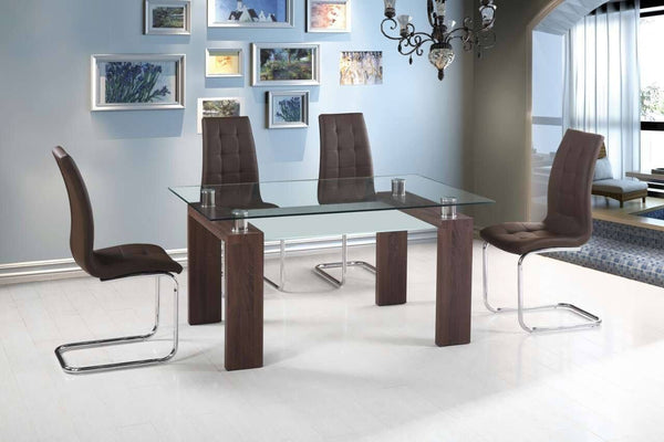 Valentina Dining Table Espresso - Furnlander