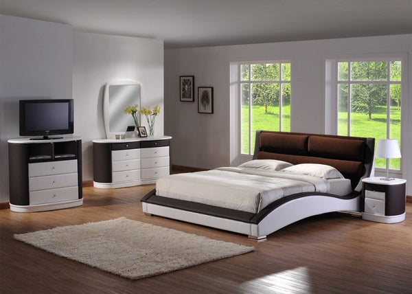 Curve Design PU Bedroom