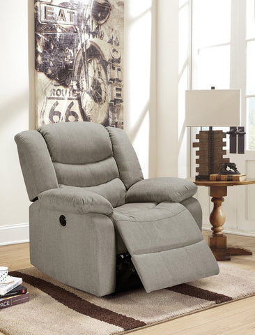 Obrien Fabric Power Rocker Recliner Gray - Furnlander