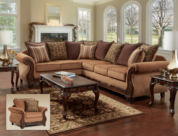 Florence Gold Sectional Group