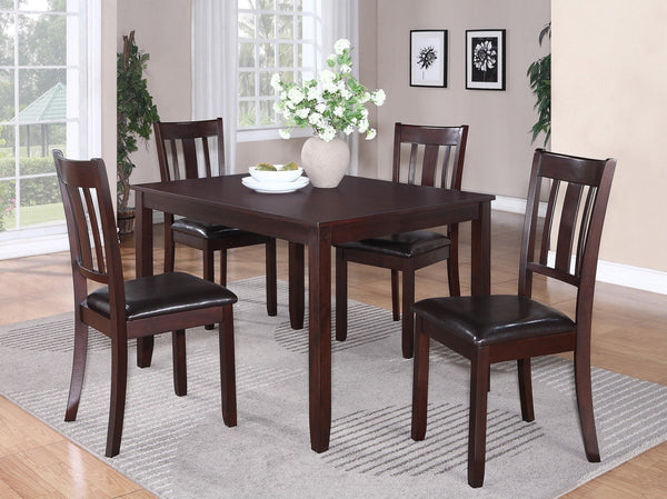 Chesington Dining Table Set 5 PCS. SET (T + 4 CH) - Furnlander