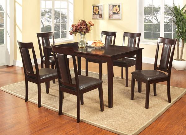 7 PCS. Rectangular Dining Table Set