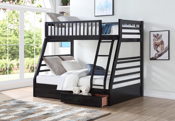 Wood Twin/Full Bunk Bed; Espresso
