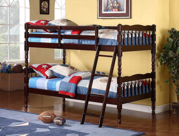Bora Wood Convertible Twin / Twin Bunk Bed Espresso - Furnlander