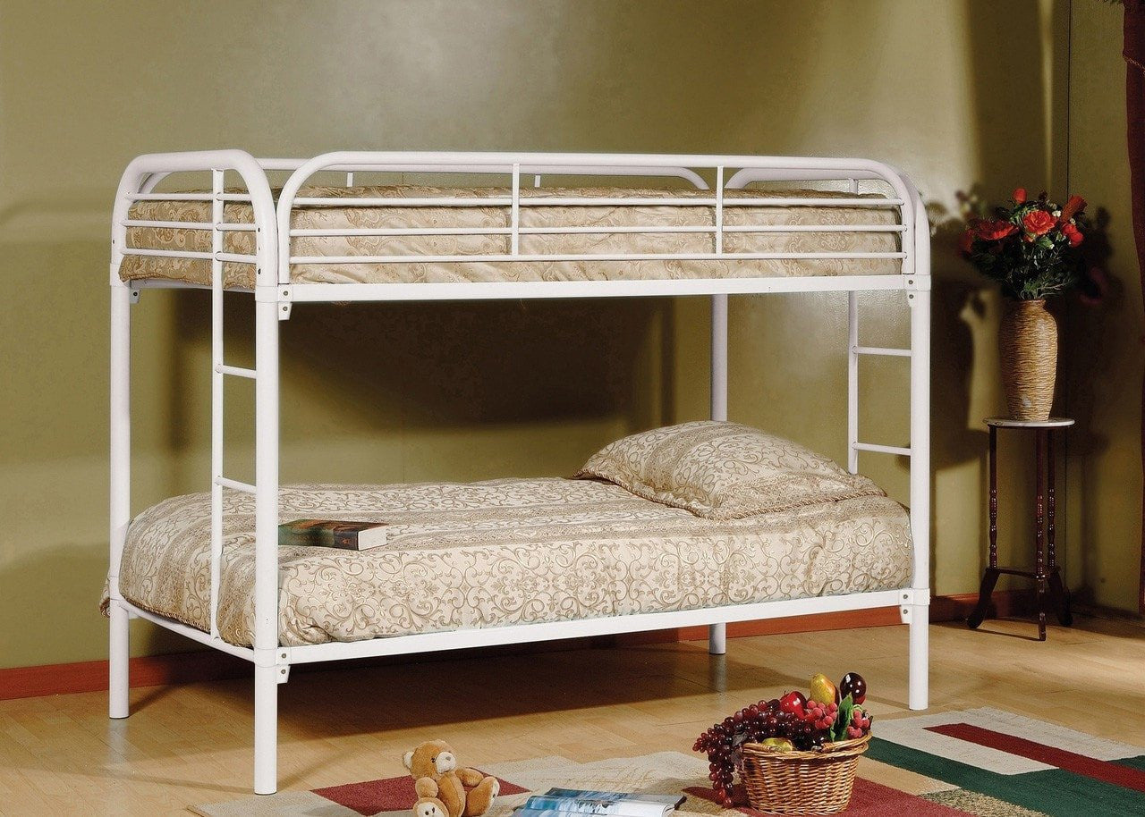 Picture of: Twin Twin Metal Bunk Bed White Pacific Imports Inc